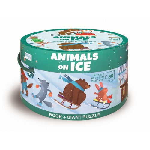 Sassi Junior Book & Giant 30 Piece Animals On Ice Packaging