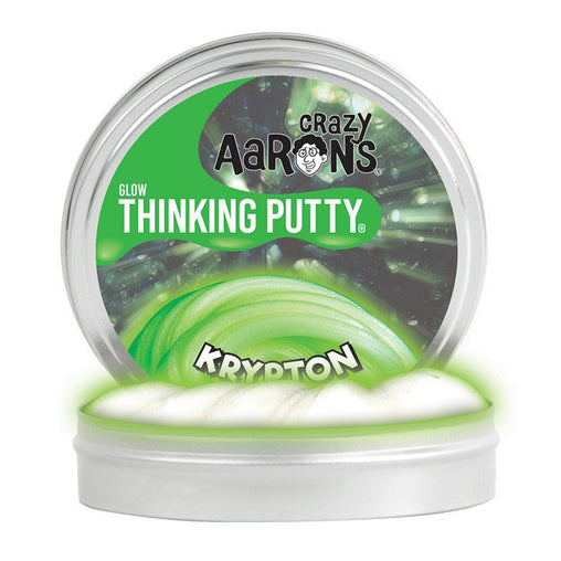 Crazy Aarons Thinking Putty Glow in the Dark Krypton Putty Tin