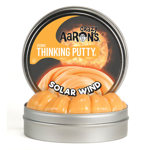 Crazy Aarons Thinking Putty Cosmic Solar Wind Putty with Glow Charger Tin