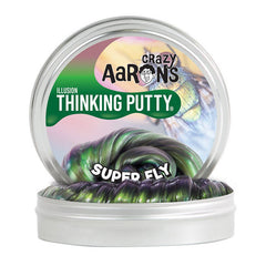 Crazy Aarons Thinking Putty Mini Tin Illusion Super Fly Packaging