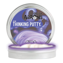 Crazy Aarons Thinking Putty Mini Tin Glow in the Dark Aura Putty Packaging