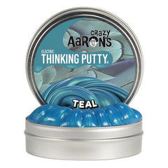 Crazy Aarons Thinking Putty Mini Tin Electric Teal Packaging