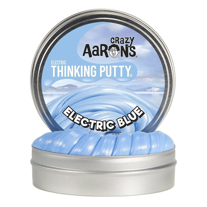 Crazy Aarons Thinking Putty Mini Tin Electric Blue Packaging