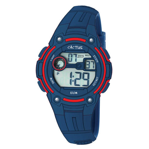 Digital Watch Navy Blue 100m