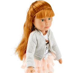 Kathe Kruse Kruselings Chloe Doll Casual Set Close up