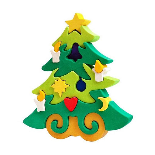 Fauna Wooden Christmas Tree Puzzle