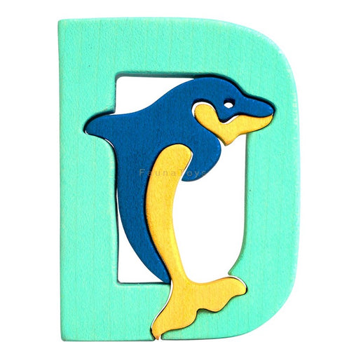 Fauna D for Dolphin Letter Puzzle