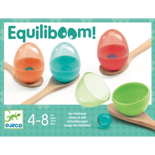 Djeco Equiliboom Egg and Spoon Game Packaging