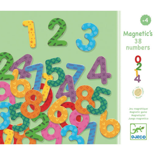 Djeco Magnetic Wooden Numbers Packaging
