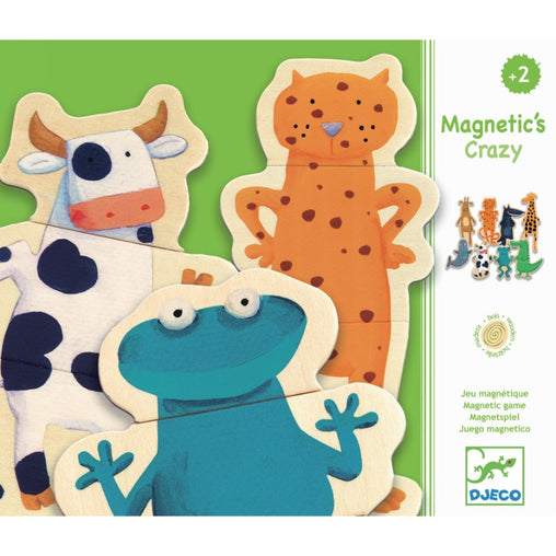 Djeco Magnetic Crazy Animal Set Packaging