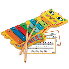 Djeco Musical Instrument Animambo Metallophone Music Notes