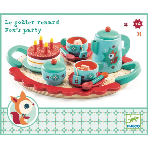 Djeco Fox's Party Tea Set Packaging