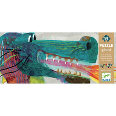 Djeco Leon the Dragon 58 Piece Giant Puzzle Packaging