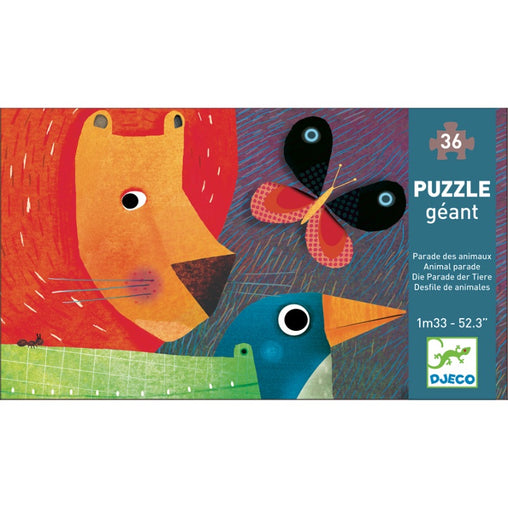 Djeco Animal Parade 36pc Giant Puzzle Packaging