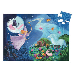 Djeco Fairy and Unicorn 36pc Silhouette Puzzle Piece