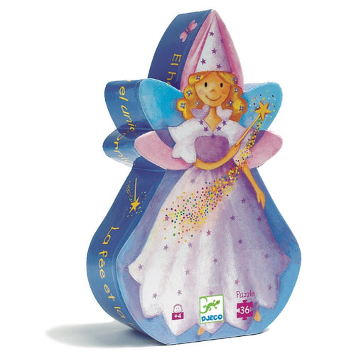 Djeco Fairy and Unicorn 36pc Silhouette Puzzle Packaging
