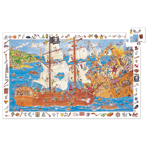Djeco Observation Puzzle Pirates 100 piece
