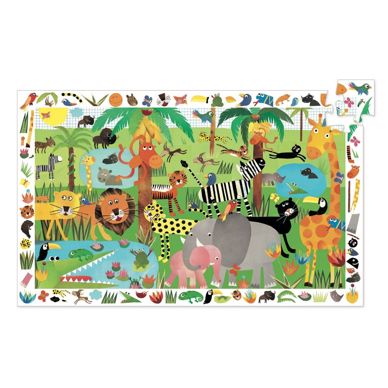 Djeco Observation Puzzle Jungle 35 Piece