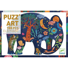 Djeco Puzzle Art Elephant 150 Pieces Packaging