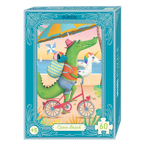 Djeco Mini Puzzle Croco Beach 60 Pieces Box