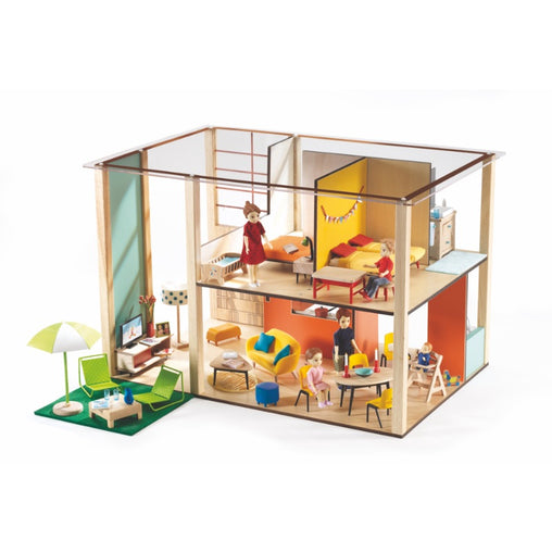 Djeco Wooden Cubic Doll house
