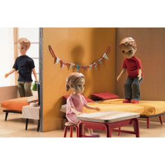 Djeco Wooden Cubic Doll House Bedroom