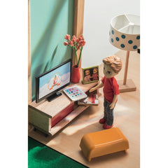 Djeco Wooden Cubic Doll House TV