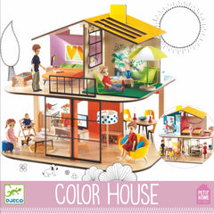 Djeco Wooden Colour Doll House 2
