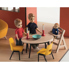 Djeco Wooden Colour Doll House Dining