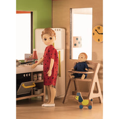 Djeco Wooden Colour Doll House Kitchen