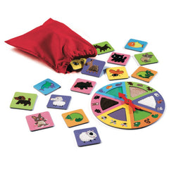 Djeco Tactile Lotto Game Animals Pieces