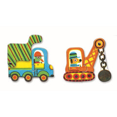 Djeco Puzzle Duo Vehicles 12 pieces 3