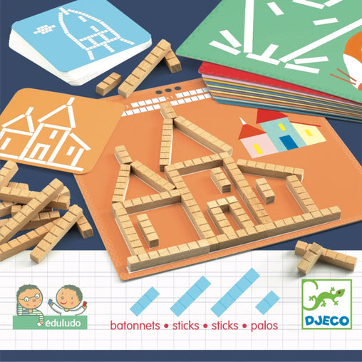 Djeco Eduludo Sticks Activity Packaging