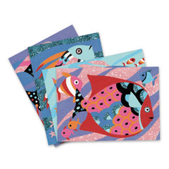 Djeco Rainbow Fish Coloured Sand Templates