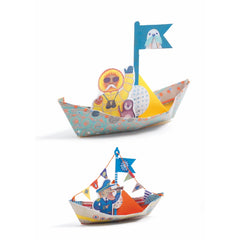 Djeco Origami Floating Boats Craft Kit 2