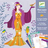 Iris Paper Folding Art Deco Dresses
