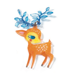 Djeco Shrinky Dinks Fawn and Birds Magic Necklace Craft Kit 2