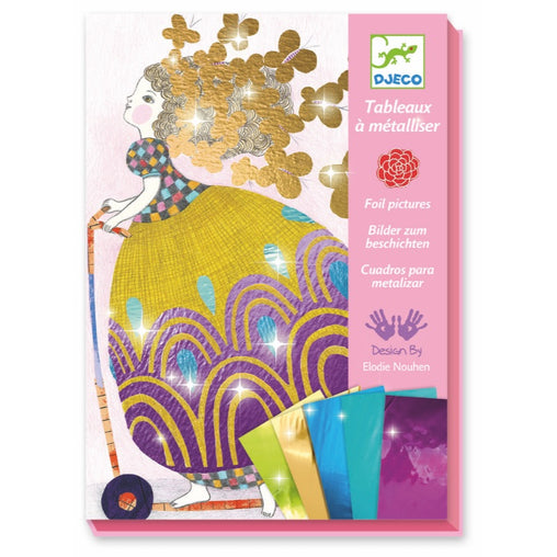 Djeco Foil Pictures Pretty Dolls