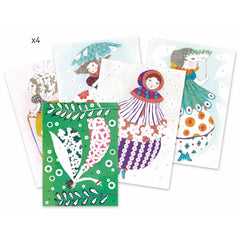 Djeco Foil Pictures Pretty Dolls Cards