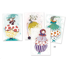 Djeco Foil Pictures Pretty Dolls Cards 2