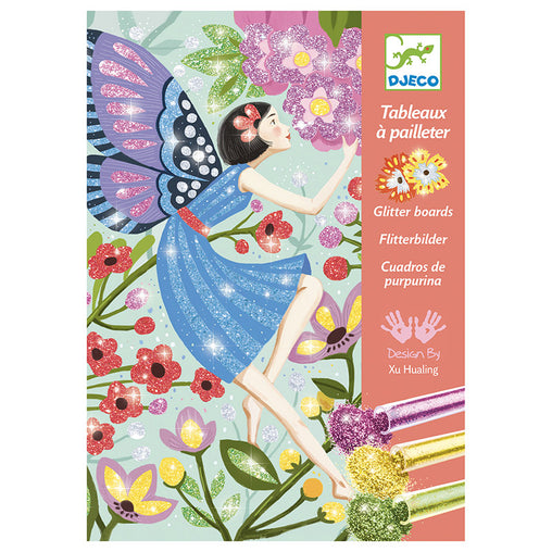Djeco Glitter Boards Gentle Life Fairies Box