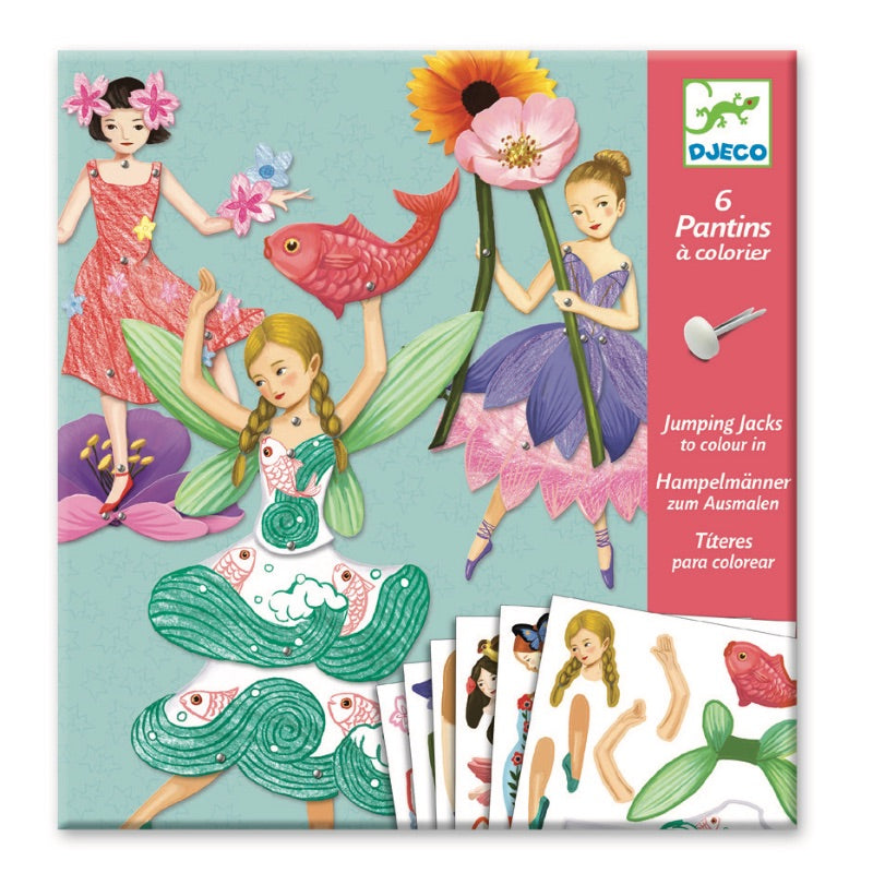 Djeco Fairy Paper Puppets Craft Kit