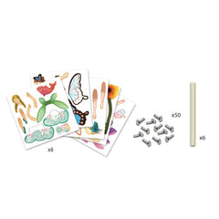 Djeco Fairy Paper Puppets Craft Kit 2