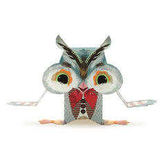 Djeco Pretty Wood Paper Toys Owl