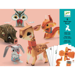 Djeco Pretty Wood Paper Toys Cover
