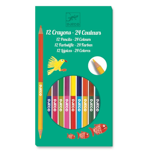 Djeco 12 Double-ended Colour Pencils