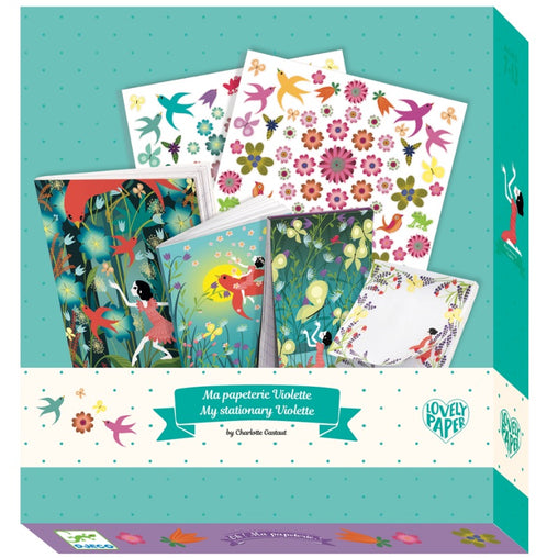 Djeco Stationery Kit Violette
