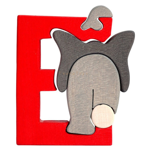 Fauna E for Elephant Letter Puzzle