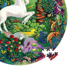 Eeboo Unicorn Garden Round Puzzle 500 Pieces 2
