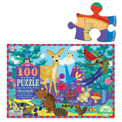 Eeboo Life on Earth 100 Piece Puzzle Size